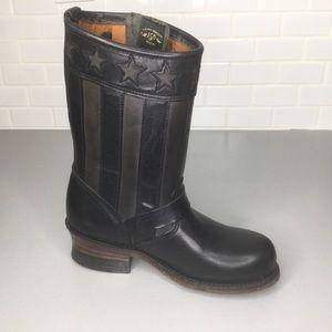Frye  black engineer boots anniversary 6.5